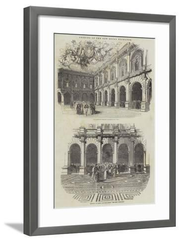 Opening of the New Royal Exchange--Framed Art Print
