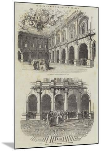 Opening of the New Royal Exchange--Mounted Giclee Print