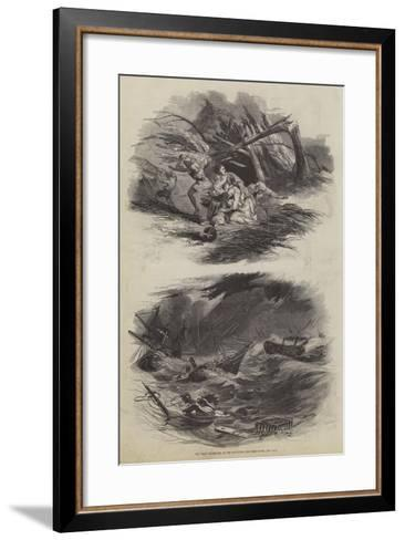 The Great Hurricane at the Havannah--Framed Art Print