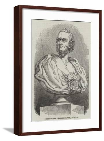 Bust of Sir Charles Napier, by Park--Framed Art Print