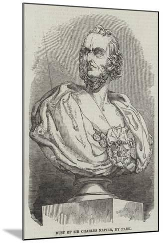 Bust of Sir Charles Napier, by Park--Mounted Giclee Print