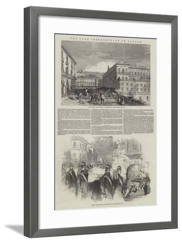 The Late Insurrection in Naples--Framed Art Print
