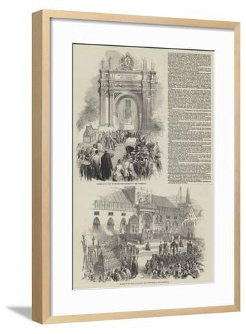 The Jubilee of St Sang at Bruges--Framed Art Print