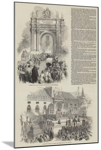 The Jubilee of St Sang at Bruges--Mounted Giclee Print