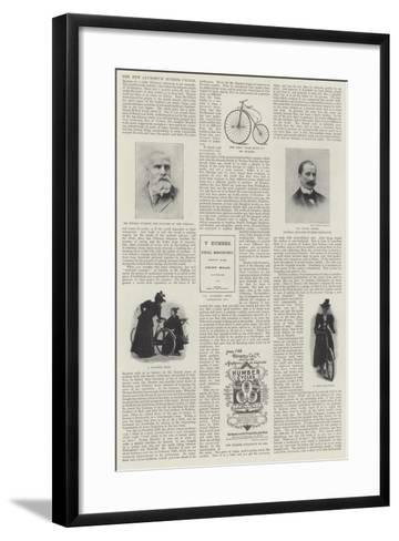 The New Aluminium Humber Cycles--Framed Art Print