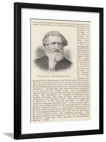 The Late Reverend John Cunningham--Framed Art Print