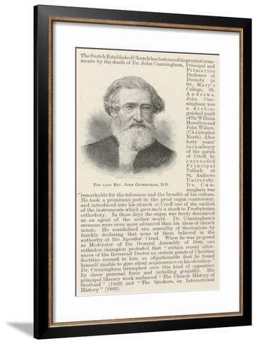 The Late Reverend John Cunningham--Framed Art Print