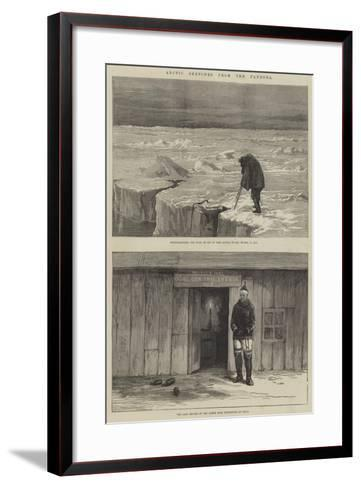Arctic Sketches from the Pandora--Framed Art Print