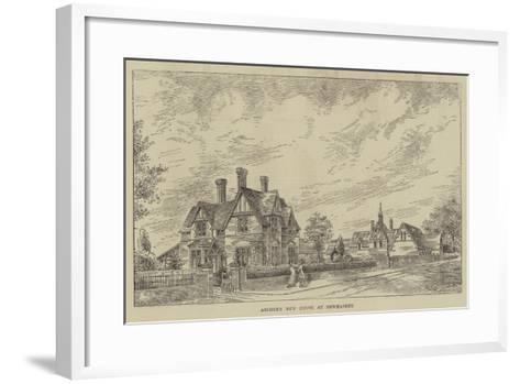 Archer's New House at Newmarket--Framed Art Print