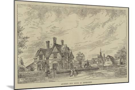 Archer's New House at Newmarket--Mounted Giclee Print