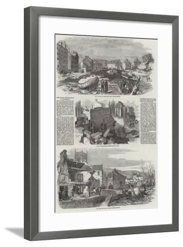 The Fatal Inundation at Holmfirth--Framed Art Print