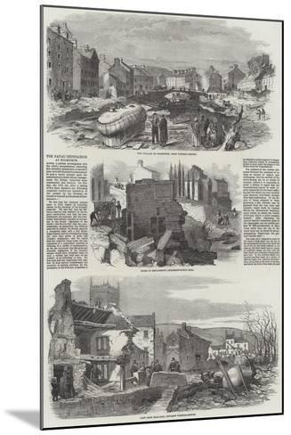 The Fatal Inundation at Holmfirth--Mounted Giclee Print