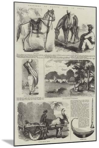 Sketches of Native Life in India--Mounted Giclee Print