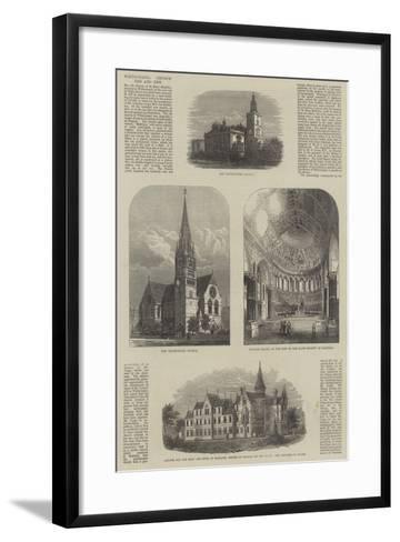 Whitechapel Church, Old and New--Framed Art Print