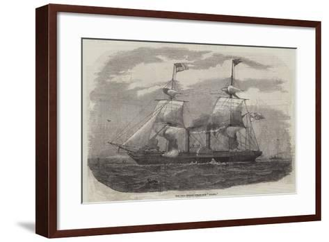 The New Cunard Steam-Ship Arabia--Framed Art Print