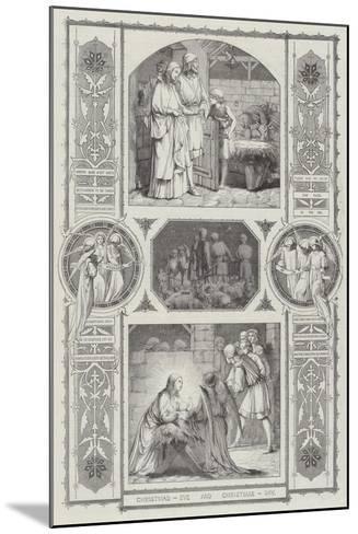 Christmas Eve and Christmas Day--Mounted Giclee Print