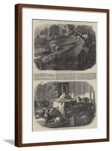 Perils of Dawk Travelling in India--Framed Art Print