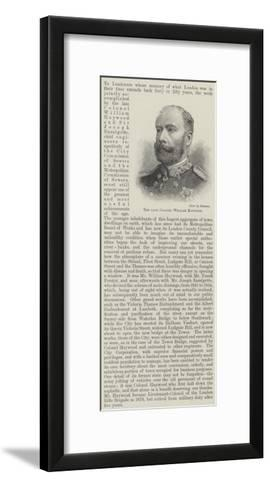 The Late Colonel William Haywood--Framed Art Print