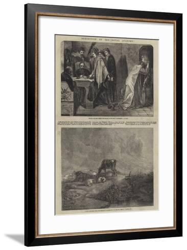 Exhibition of the Royal Academy--Framed Art Print