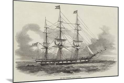 The Ship Hibernia, Built at Quebec--Mounted Giclee Print