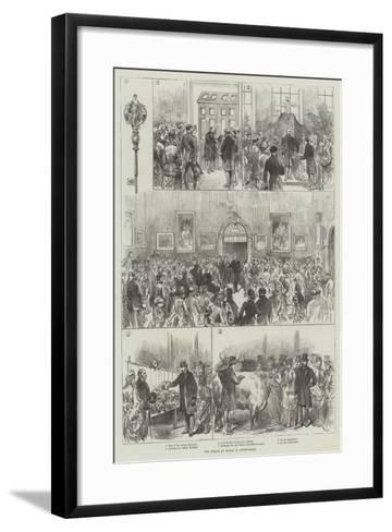 The Prince of Wales at Birmingham--Framed Art Print