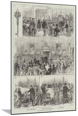 The Prince of Wales at Birmingham--Mounted Giclee Print