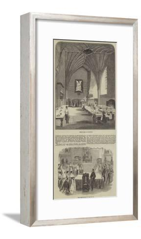 Her Majesty's Visit to Burghley--Framed Art Print