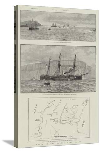 Wreck of HMS Sultan, Near Malta--Stretched Canvas Print