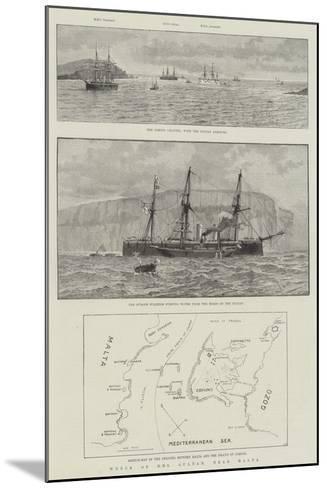 Wreck of HMS Sultan, Near Malta--Mounted Giclee Print