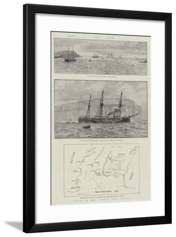 Wreck of HMS Sultan, Near Malta--Framed Art Print