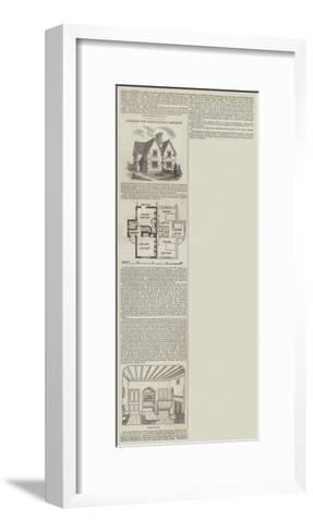 Cottages for Agricultural Districts--Framed Art Print