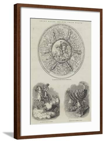 Ascot Races, 1848, the Prize Plate--Framed Art Print