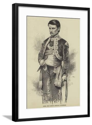 Leon, the Famous Mexican Horseman--Framed Art Print