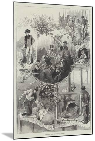 Sketches in an English Hop Garden--Mounted Giclee Print