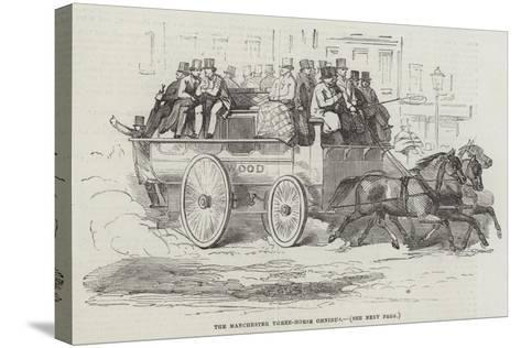 The Manchester Three-Horse Omnibus--Stretched Canvas Print