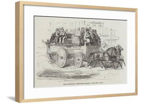 The Manchester Three-Horse Omnibus--Framed Art Print
