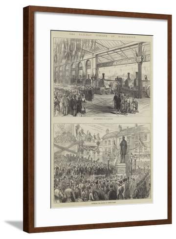 The Railway Jubilee at Darlington--Framed Art Print