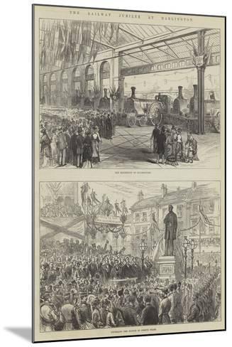 The Railway Jubilee at Darlington--Mounted Giclee Print