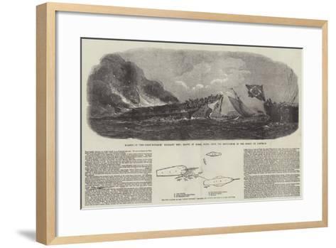 The Burning of the Ocean Monarch--Framed Art Print