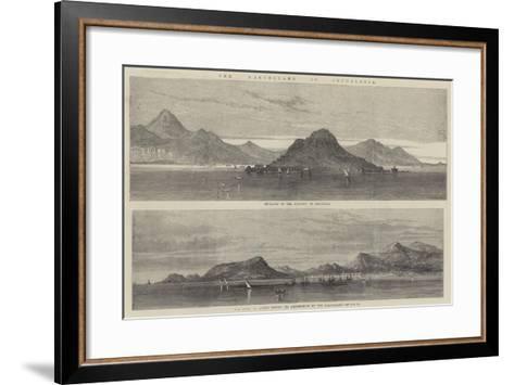 The Earthquake in Cephalonia--Framed Art Print
