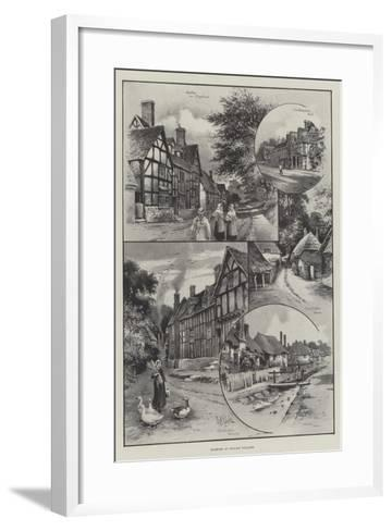 Glimpses of English Villages--Framed Art Print