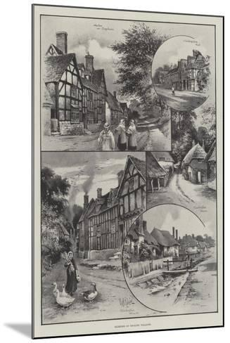 Glimpses of English Villages--Mounted Giclee Print