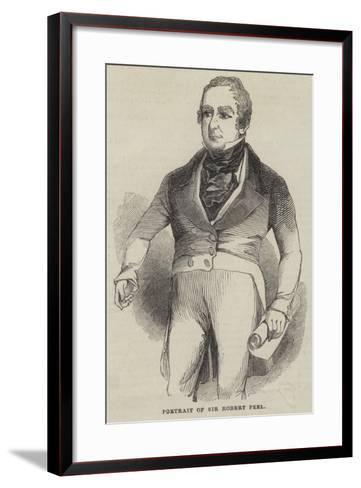 Portrait of Sir Robert Peel--Framed Art Print