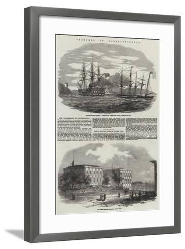 Sketches at Constantinople--Framed Art Print