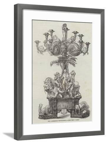 The Lawrence Testimonial--Framed Art Print
