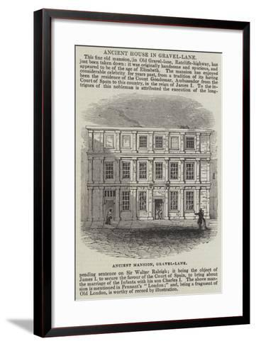 Ancient House in Gravel-Lane--Framed Art Print