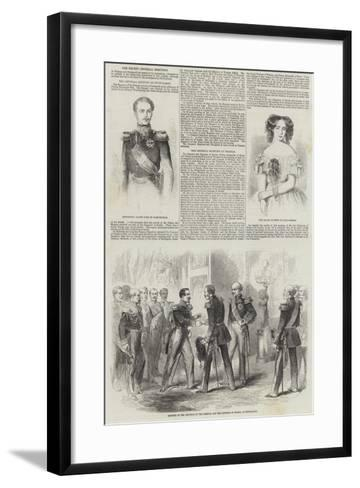 The Recent Imperial Meetings--Framed Art Print