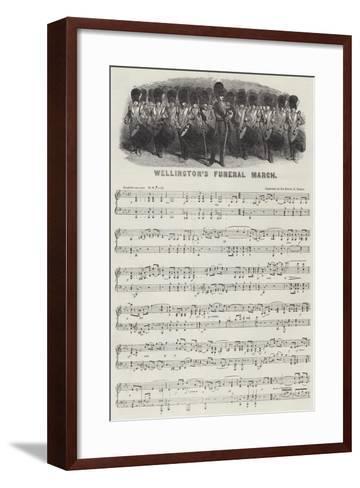 Wellington's Funeral March--Framed Art Print