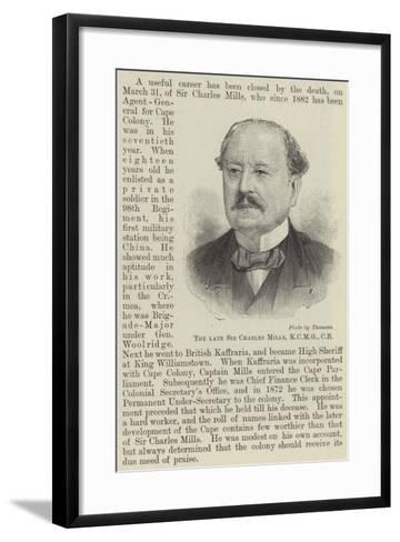 The Late Sir Charles Mills--Framed Art Print