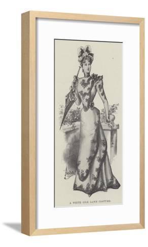 A White Silk Lawn Costume--Framed Art Print